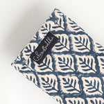 Eye Pillow - Blue Leaf-Meditation-Block Printed, Eye Pillows-Scented-