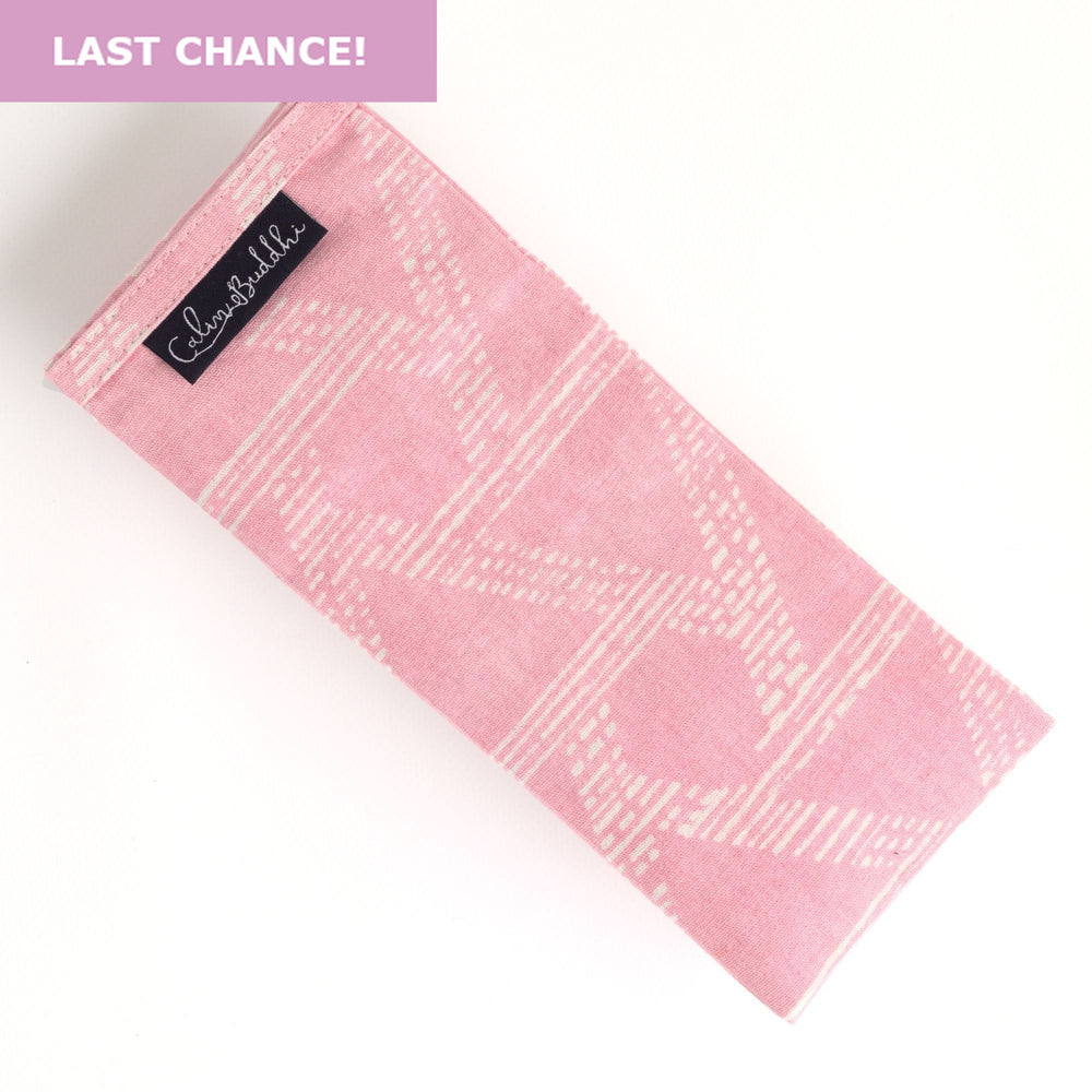 Eye Pillow - Pink Triangle-Meditation-Block Printed, Eye Pillows-Scented-