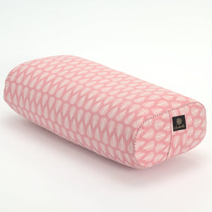 Floating Feather Oval Yoga Bolster-Yoga Bolster-Block Printed, Oval Bolsters-