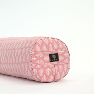 Floating Feather Round Yoga Bolster-Yoga Bolster-Block Printed, Round Bolsters-