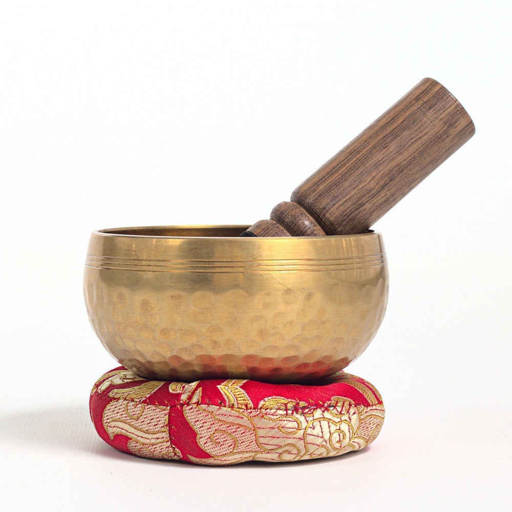 Hand hammered tibetan singing bowl-Gifts, Meditation Accessories, Singing Bowls, Yoga Accessories-