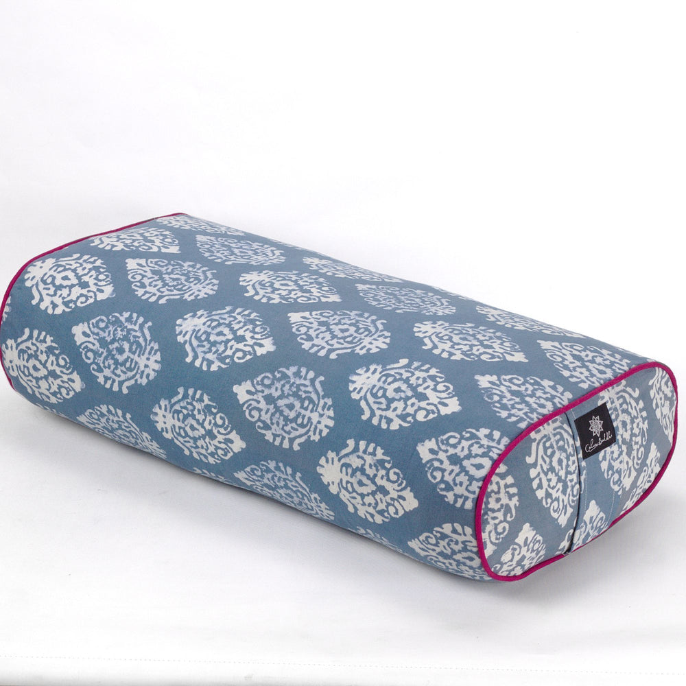 Indian Motif Oval Yoga Bolster-Yoga Bolster-Block Printed, Oval Bolsters-