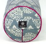 Indian Motif Round Yoga Bolster-Yoga Bolster-Block Printed, Round Bolsters-