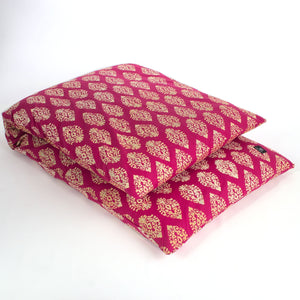 Load image into Gallery viewer, Indian Motif Yoga Nidra and Meditation Futon-Meditation-Block Printed, Futons-