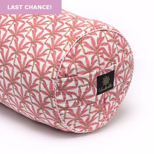 Load image into Gallery viewer, Jaipur Palm Round Yoga Bolster-Yoga Bolster-Block Printed, Round Bolsters-