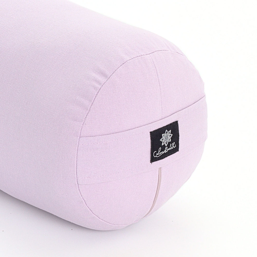 Lilac Round Yoga Bolster-Yoga Bolster-Classic, Round Bolsters-