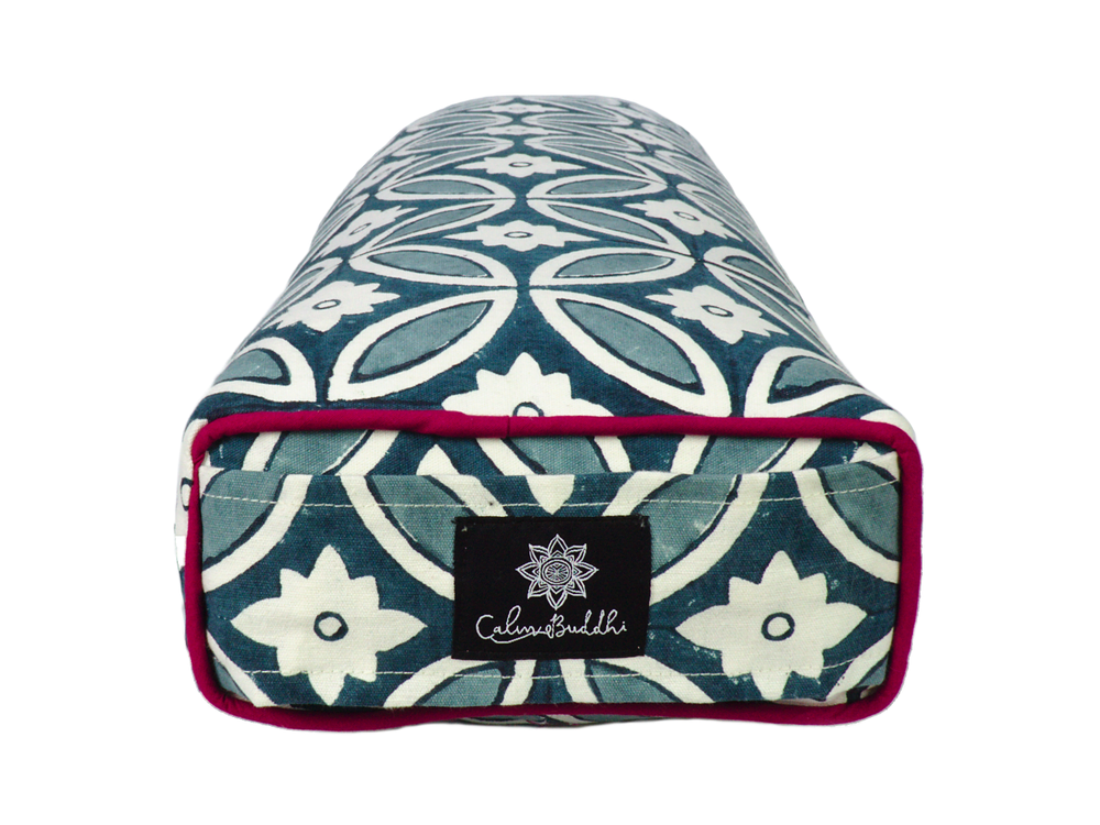 Load image into Gallery viewer, Moroccan Tile Prana Yoga Bolster-Yoga Bolster-Block Printed, Prana Bolsters-