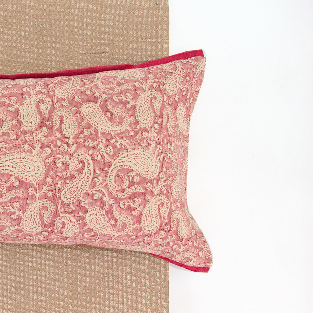 Pink Paisley Yoga Pillow-Yoga-Block Printed, Yoga Pillows-