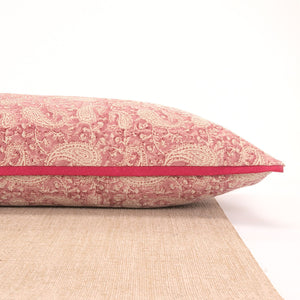 Load image into Gallery viewer, Pink Paisley Yoga Pillow-Yoga-Block Printed, Yoga Pillows-