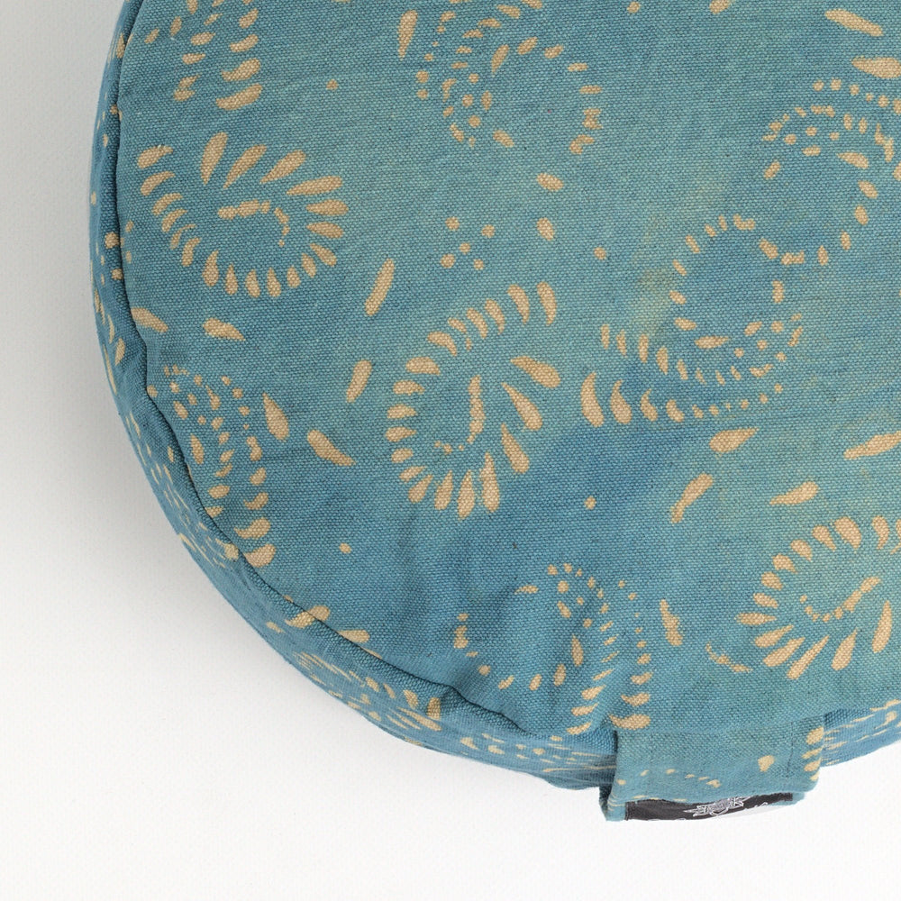 Rondo mod meditation cushion ~ Rustic Indigo-Meditation Cushion-Rondos-