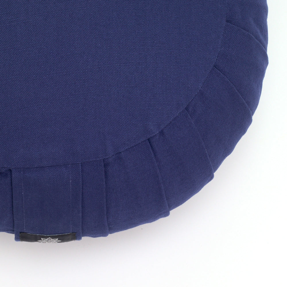 Round meditation cushion - blue-Meditation Cushion-Classic, Zafus-