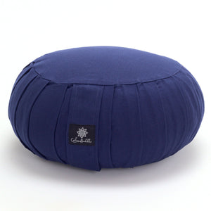 Load image into Gallery viewer, Round meditation cushion - blue-Meditation Cushion-Classic, Zafus-