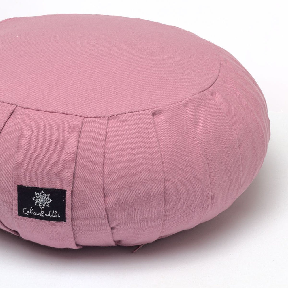 Round Meditation Cushion - Blush-Meditation Cushion-Classic, Zafus-