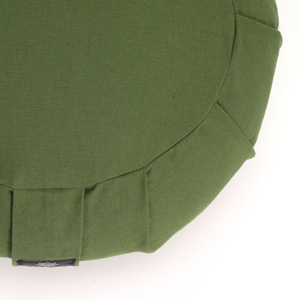 Round Meditation Cushion - Green-Meditation Cushion-Classic, Zafus-