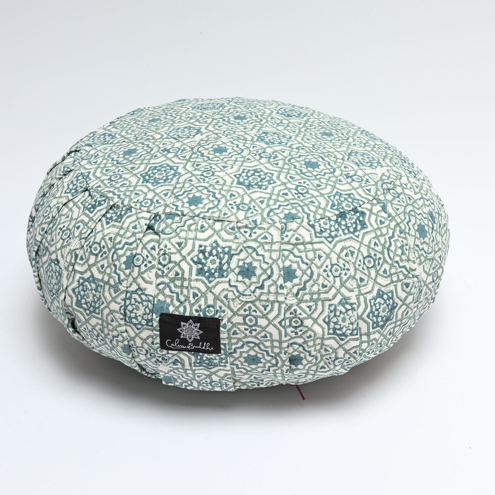 Round Meditation Cushion ~ Moroccan Dreams-Meditation Cushion-Block Printed, Zafus-