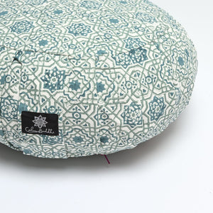 Load image into Gallery viewer, Round Meditation Cushion ~ Moroccan Dreams