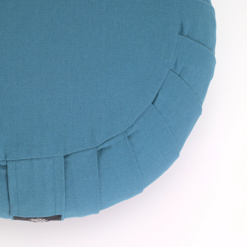 Round meditation cushion - teal-Meditation Cushion-Classic, Zafus-