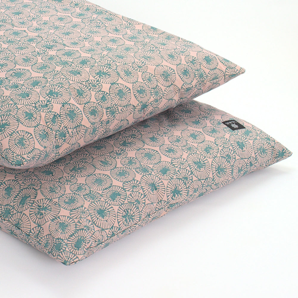 Teal Chakra Yoga Nidra and Meditation Futon-Meditation-Block Printed, Futons-