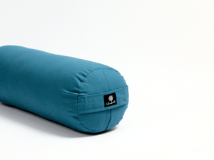 Load image into Gallery viewer, Teal Round Yoga Bolster-Yoga Bolster-Classic, Round Bolsters-