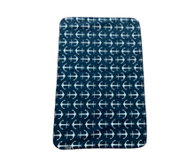 Load image into Gallery viewer, Doggspot Designs Navy Anchor Blanket