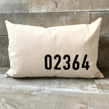 Load image into Gallery viewer, Minimalist Zip Code Pillow