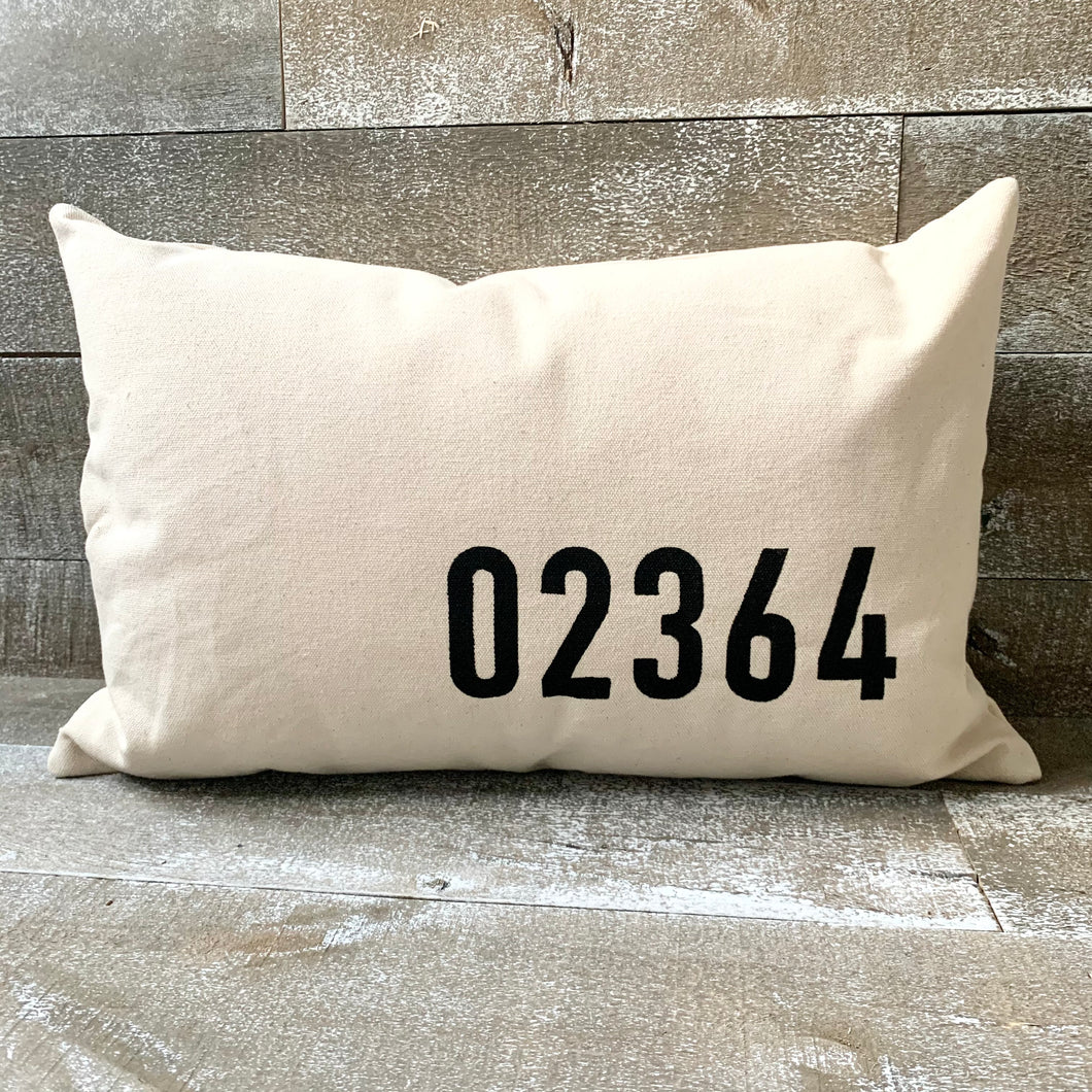 Minimalist Zip Code Pillow