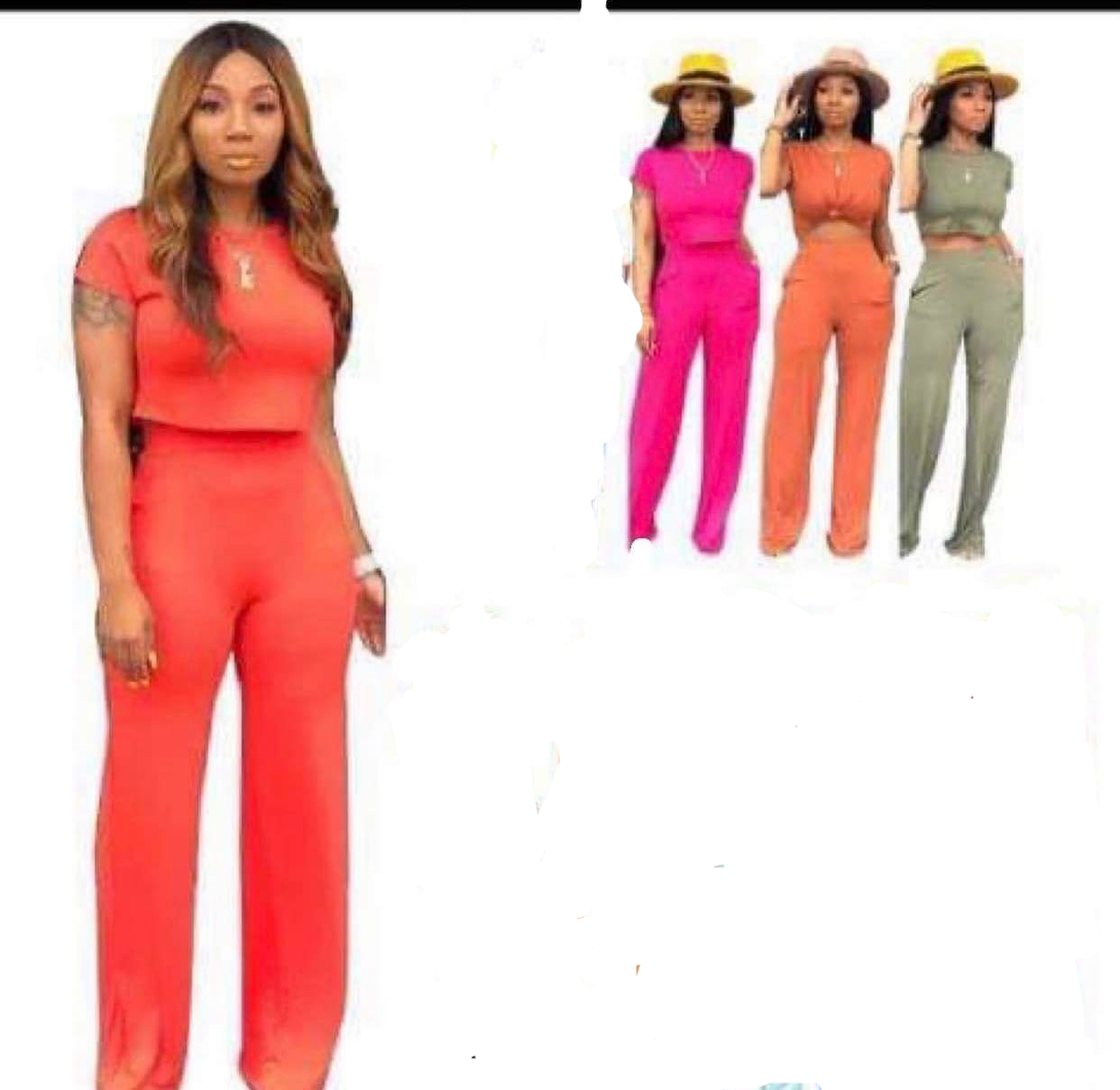 2 pieces (PINK ONLY) pants set