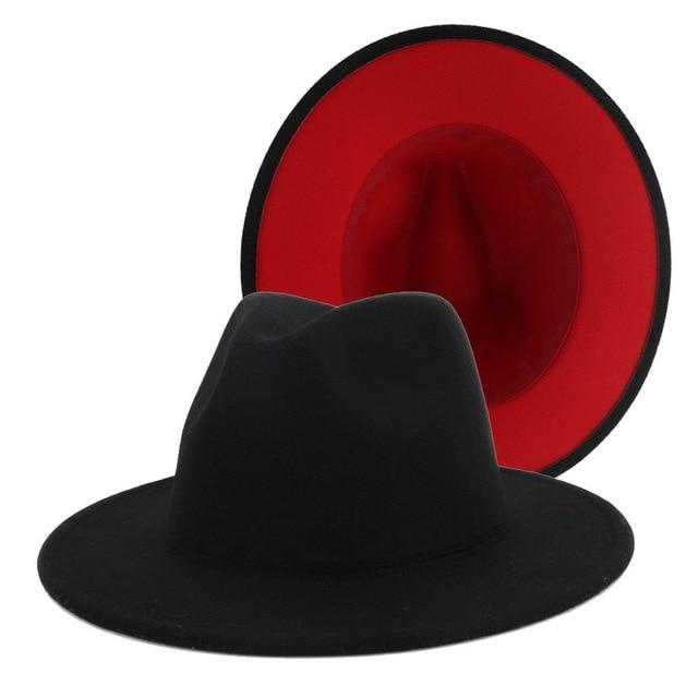 Fedora Dark Blue / Red Bottom