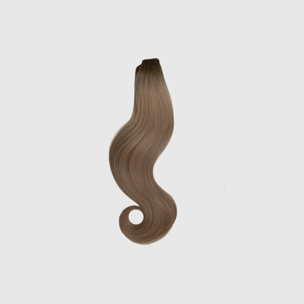 Rooted Dark Blonde Ponytail