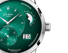 Load image into Gallery viewer, Glashutte Original PanoMaticLunar Green on Strap 1-90-02-13-32-02