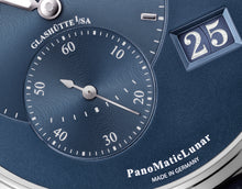 Load image into Gallery viewer, Glashutte Original PanoMaticLunar Blue on Strap 1-90-02-46-32-35