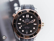 Load image into Gallery viewer, Omega Seamaster Diver 300 M Black Gold on Rubber 210.22.42.20.01.002