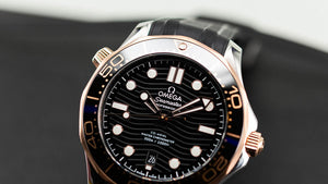 Omega Seamaster Diver 300 M Black Gold on Rubber 210.22.42.20.01.002