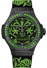 Load image into Gallery viewer, Hublot Big Bang Broderie Sugar Skull Fluo Malachik Green LE 100 Piece 343.CG.6590.NR.1222