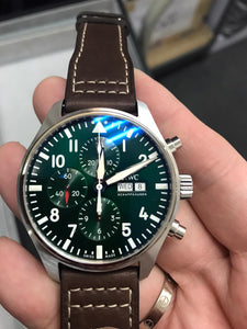 IWC PILOT'S CHRONOGRAPH RACING GREEN LIMITED EDITION IW377726