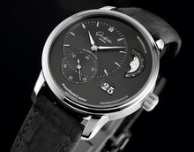 Load image into Gallery viewer, Glashutte Original PanoMaticLunar Black on Strap 1-90-02-43-32-05