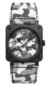 Bell & Ross BR 03-92 WHITE CAMO Limited Edition BR0392-CG-CE/SCA