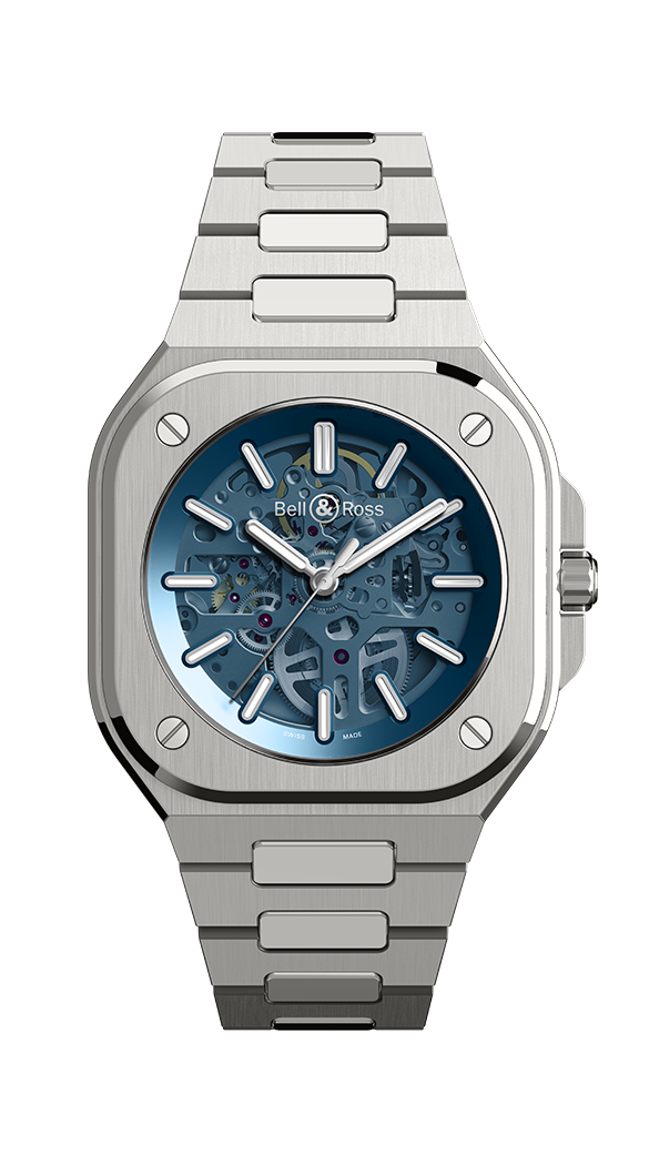 Bell & Ross BR05 Skeleton Blue on Steel BR05A-BLU-SKST/SST