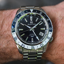 Load image into Gallery viewer, Seiko Grand Seiko Sport Mechanical Hi-Beat 36000 GMT Triple Time Blue SBGJ237