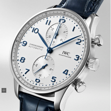 Load image into Gallery viewer, IWC Chronograph Portugieser White Dial Blue Font IW371605