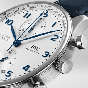 IWC Chronograph Portugieser White Dial Blue Font IW371605