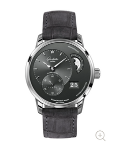 Glashutte Original PanoMaticLunar Black on Strap 1-90-02-43-32-05