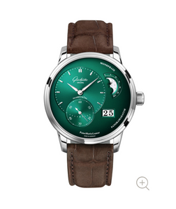 Glashutte Original PanoMaticLunar Green on Strap 1-90-02-13-32-02