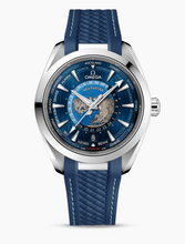 Load image into Gallery viewer, Omega AQUA TERRA 150M OMEGA CO‑AXIAL MASTER CHRONOMETER GMT WORLDTIMER 43 MM 	220.12.43.22.03.001