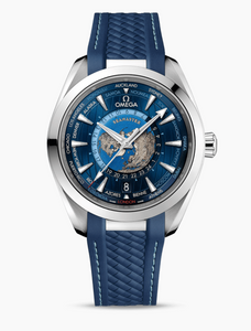 Omega AQUA TERRA 150M OMEGA CO‑AXIAL MASTER CHRONOMETER GMT WORLDTIMER 43 MM 	220.12.43.22.03.001