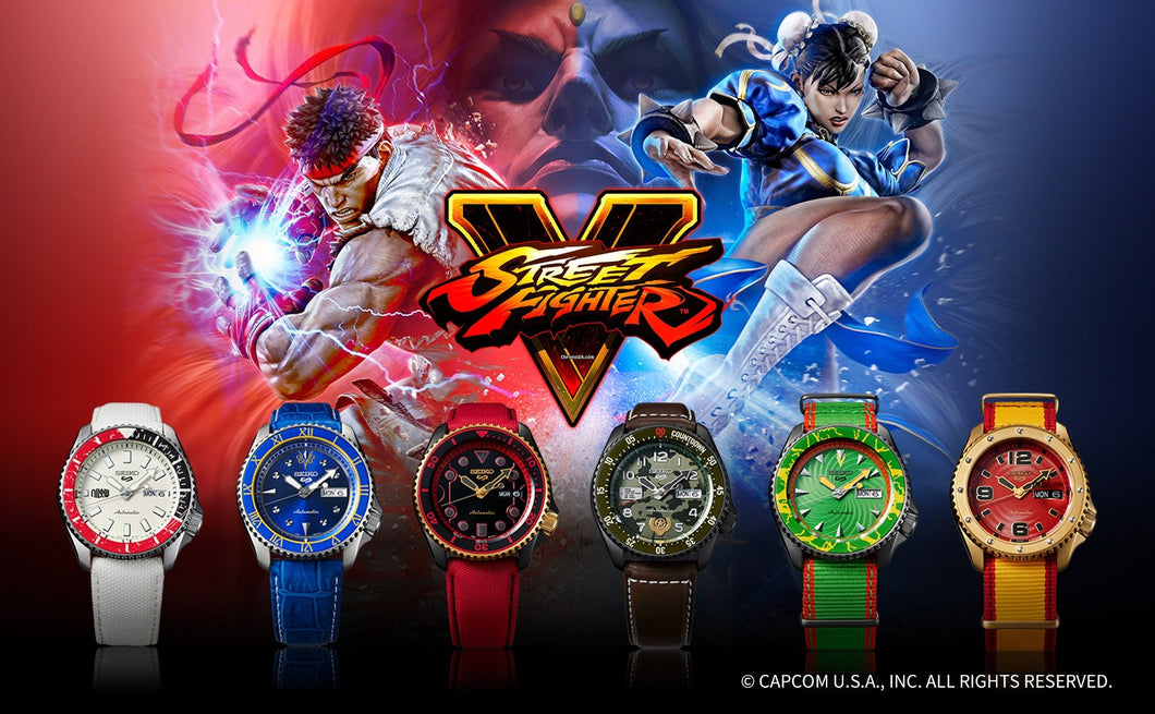 Seiko 5 Sports Street Fighter V Limited Edition - Full Set