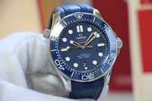 Load image into Gallery viewer, Omega Seamaster Diver 300 M Blue on Rubber 210.32.42.20.03.001
