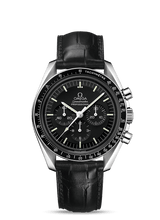 Load image into Gallery viewer, Omega Speedmaster Professional MOONWATCH Hesalite on Leather 311.33.42.30.01.001
