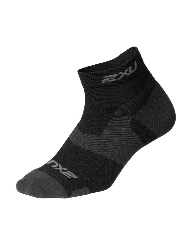 VECTR Light Cush 1/4 Crew Sock Unisex Black