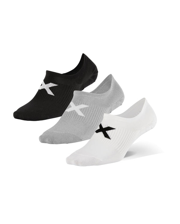 Invisible Sock 3 Pack Unisex Three/Colour